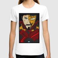 tony stark T-shirts featuring Iron Man 3 (Tony Stark) by  Steve Wade ( Swade)