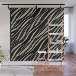 Tiger abstract striped pattern . Wall Mural