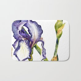 Violet Iris Bath Mat
