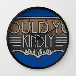 Would You Kindly Wall Clock