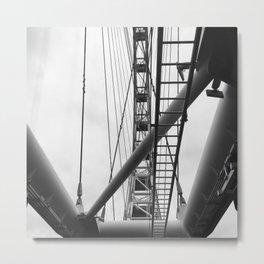 Fly Wheel Metal Print