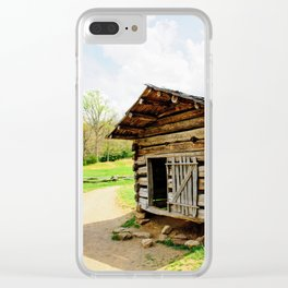 Historic Log Cabin Clear iPhone Case