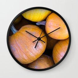 Pile of pumpkins Wall Clock