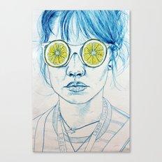 Lemon Lady Canvas Print