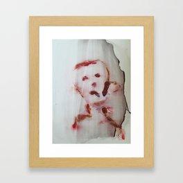Trauriger junge Framed Art Print