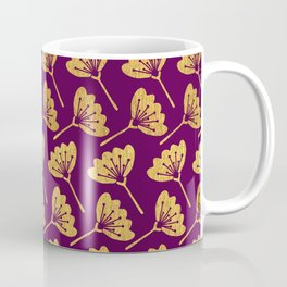 Modern Golden Florals Coffee Mug