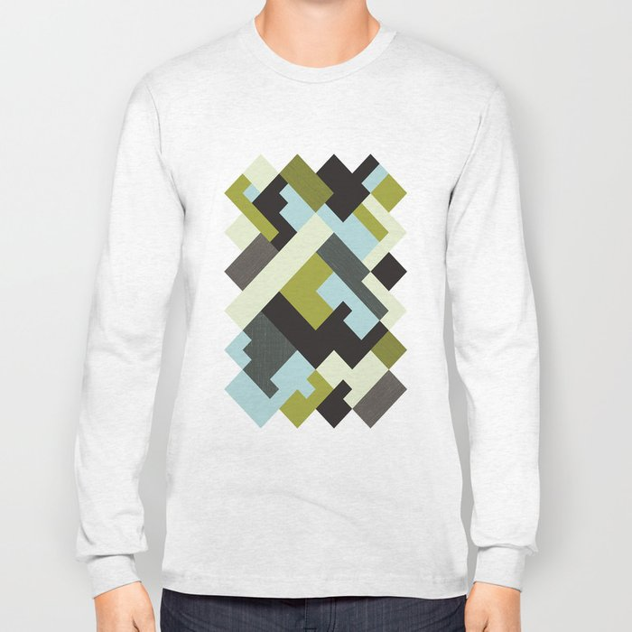 Rectangular geometric Long Sleeve T-shirt