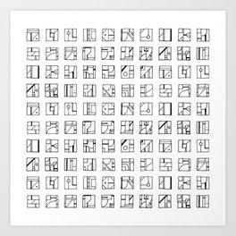 Cryptoglyphs Art Print