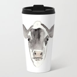 Watercolor Cow Travel Mug