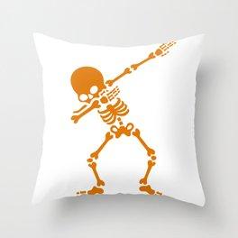 Skeleton Dab Throw Pillow