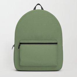 Fresh Green Solid Color Block Backpack