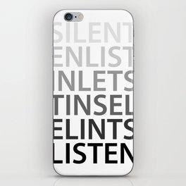 Silent Listen iPhone Skin