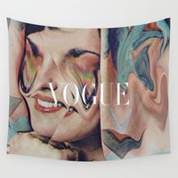 vogue Wall Tapestries featuring Vogue by Mrs Araneae