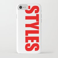 harry styles iPhone & iPod Cases featuring Harry Styles by acid&pizza