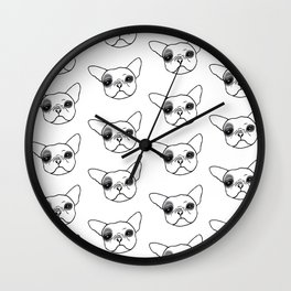 Hugo the Frenchie Wall Clock