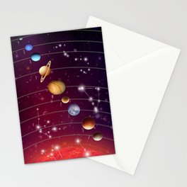 Planeten Stationery Cards