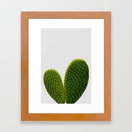 Heart Cactus Framed Art Print