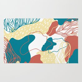 Fire Branching Coral Rug