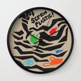 Screw Plastic! Wall Clock