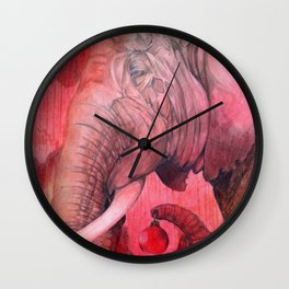 Old Elephant's Christmas Wall Clock