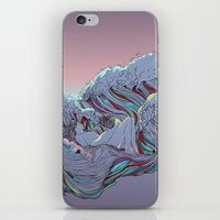 sunset iPhone & iPod Skins featuring Sunset by Huebucket