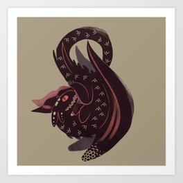The Bravest Dragon Art Print
