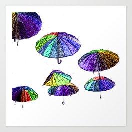 Umbrellas Art Print