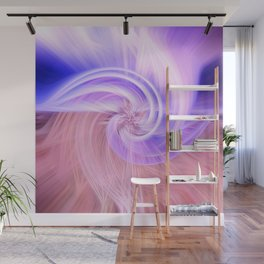 Awesome Light Fibers Show Of Twirls Wall Mural