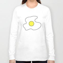 Big Fried Egg t shirt Sunny Side Up Breakfast Food meme t-shirts Long Sleeve T-shirt