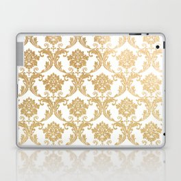 Gold swirls damask #4 Laptop & iPad Skin