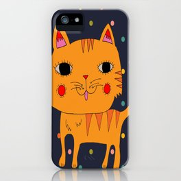 Orange Cat iPhone Case