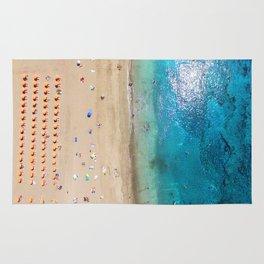 AERIAL. Summer beach Rug