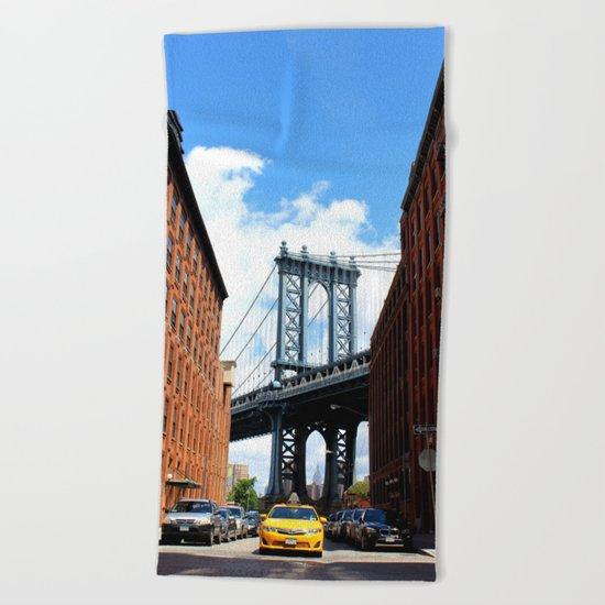 That Brooklyn View - The Empire Peek Beach Towel