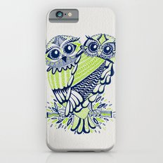 Owls – Navy & Lime iPhone 6s Slim Case