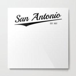 Retro Classic City of San Antonio Texas Vintage Metal Print