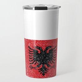 Albanian National Flag Gift Albania Country Vintage Design Travel Mug