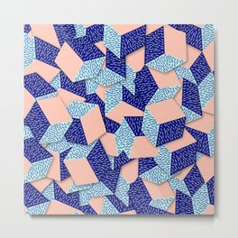 Colorful Aqua Geometric Pattern Metal Print