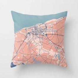Calais - France Breezy City Map Throw Pillow