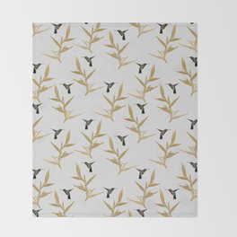 Hummingbird & Flower II Throw Blanket