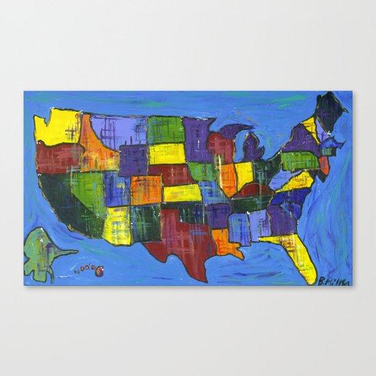 U.S.A. Canvas Print