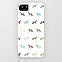 Colorful Horses Lantern Pattern  iPhone Case
