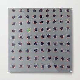 'Green floats on yellow' Acrylic on canvas Metal Print