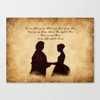 outlander Canvas Prints featuring Outlander wedding by QINdesign