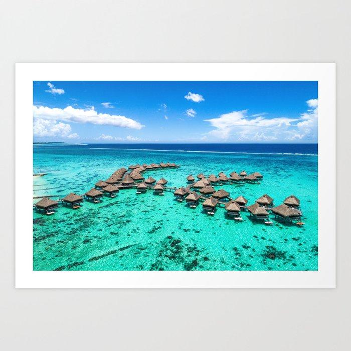 Tahiti paradise honeymoon vacation destination Kunstdrucke