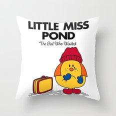 Little Miss Pond Throw Pillow