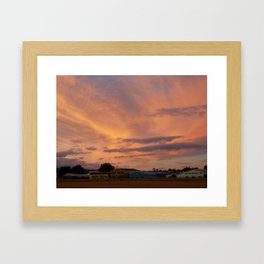 Sunset at Rotorua (New Zealand Collection) Framed Art Print