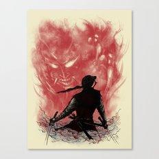 Ronin Versus Oni Canvas Print