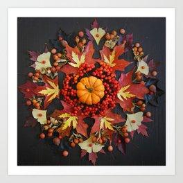 Nature Mandala: October Art Print