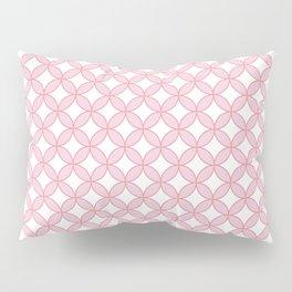 Modern geometric pink white quatrefoil pattern Pillow Sham