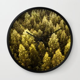 pine tree pattern Wall Clock
